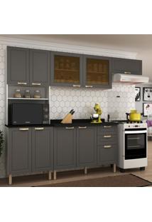 Cozinha Completa 5 Peã§As Americana Multimã³Veis 5676 Branco/Grafite - Branco/Incolor - Dafiti