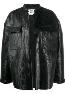Maisie Wilen Oversized Embossed Jacket - Preto