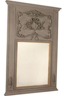 Espelho Decorativo Clássico Saint-Denis De Parede Com Moldura De...