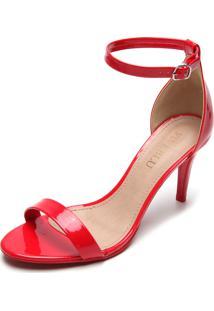 Sandália Fiveblu Tiras Vermelha