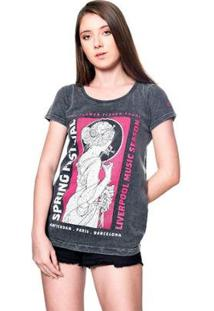 Camiseta Estonada Festival Season Useliverpool Feminina - Feminino-Preto