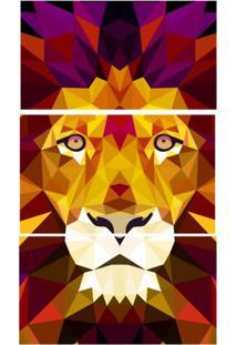 Quadro Decorativo Leão Estampado