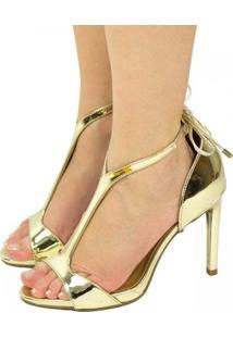 Sandália Metalizada Vizzano Metal Glamour 6302.111 - Feminino-Dourado