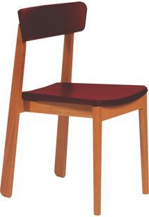 Cadeira Com Estofado Tramontina 14120046 Kyoto Poliuretano Marsala