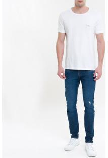 Calça Jeans Five Pockets Ckj 016 Skinny - Azul Marinho - 36