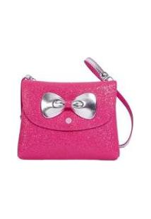 Bolsa Infantil Princesa Pink Bolsa Carteira Glitter - Feminino-Rosa