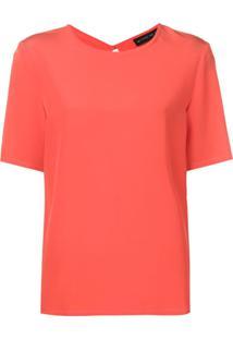 Etro Blusa Decote Arredondado - Vermelho