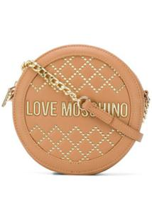 Love Moschino Studded Crossbody Bag - Marrom