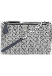 Bolsa Eddington Mini Dbl Zip Crosbdy - Cinza Claro & Azuguess