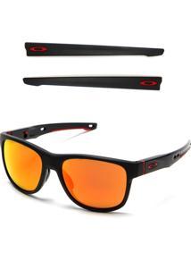 Óculos De Sol Oakley Crossrange Preto/Vermelho