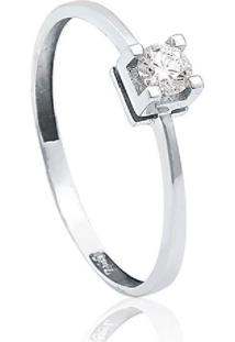 Anel Solitário De Ouro 18K Diamante 20 Pts To Love