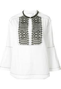Alberta Ferretti Embroidered Blouse - Branco
