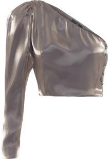 Blusa Feminina Metalizada Lou - Prata