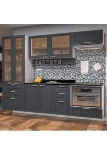 Cozinha Completa 8 Peã§As Americana Multimã³Veis 5664Smf Branco/Grafite - Branco/Incolor - Dafiti