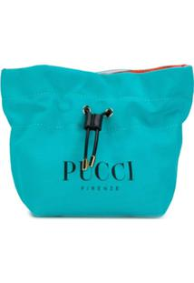 Emilio Pucci Necessaire Com Logo E Amarração - Azul