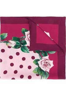 Dolce & Gabbana Lenço Com Estampa De Rosa