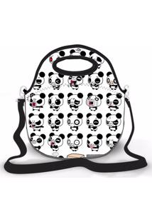 Bolsa Térmica Shop House Pandas Branco