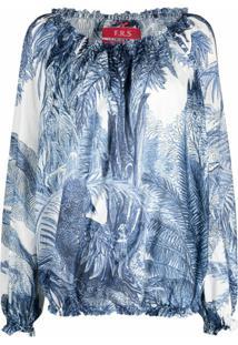 F.R.S For Restless Sleepers Blusa Com Estampa De Esqueleto - Azul
