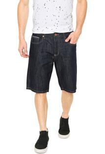 Bermuda Jeans Zoomp Reta Giovani Azul-Marinho