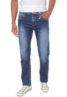 Calça Jeans Sawary Reta Estonada Azul