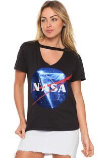 Camiseta Fiveblu Nasa Preta