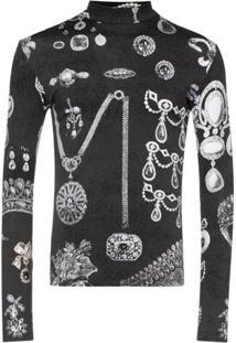 Linder Seva Flex Jewel-Print Top - Preto
