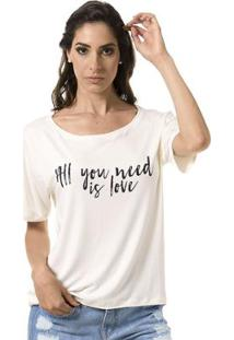 Camiseta Bloom All You Need Is Love Feminina - Feminino