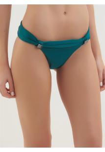 Calcinha Rosa Chá Carla Esmeralda Americana Beachwear Verde Feminina (Verde Medio, P)