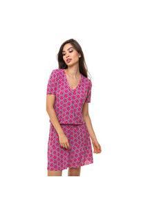 Vestido Aura Liganete Estampado Pink