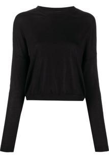 Marni Suéter Com Acabamento Contrastante - Preto