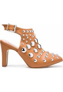 Ankle Amaro Boot Com Aplicação Metais - Feminino