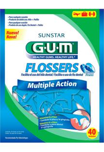Fio Dental Flossers Gum Multiple Action 40 Unidades