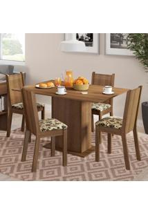 Conjunto Sala De Jantar Lexy Madesa Mesa Tampo De Madeira Com 4 Cadeiras Marrom