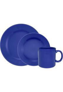 Aparelho De Jantar Donna Azul Com 12 Peças