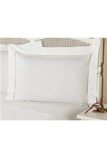 Fronha Premium Plumasul Percal 233 Fios Caress Branco - 50 Cm X 90 Cm