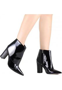 Bota Zariff Ankle Boot Verniz Feminina - Feminino