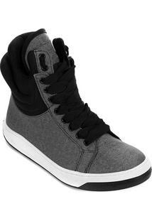 Tênis Cano Alto Hardcorefootwear Acolchoado Feminino - Feminino-Cinza