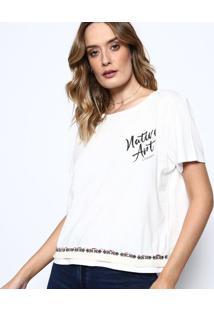 Camiseta ''Nature Art'' - Branca & Preta - Sommersommer