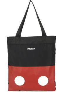 Bolsa Tote Bag Luxcel Mickey Preta