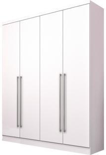 Roupeiro 4 Portas Celenium Neve Tcil Móveis