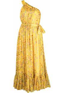 Alexis Vestido Ombro Único Teodora - Amarelo