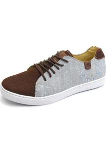 Sapatênis Shoes Grand Jeans Masculino - Masculino-Marrom