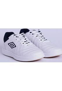 Tênis Futsal Masculino Umbro Special Cup Low Branco/Azul Marinho