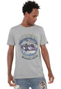 Camiseta Quiksilver Slim Fit Alibi Cinza