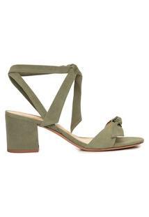 Sandália Feminina Ankle Wrap Clarita 60 - Verde
