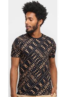 Camiseta All Free New York Masculina - Masculino-Preto