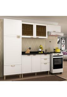 Cozinha Completa 5 Peã§As Americana Multimã³Veis 5688 Branco - Branco/Incolor - Dafiti