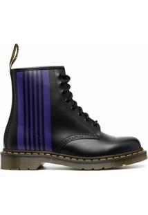 Dr. Martens Ankle Boot Com Listras E Detalhe De Borboleta - Preto