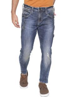 Calça Jeans Colcci Slim Cropped Felipe Azul