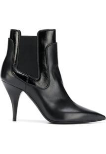 Casadei Ankle Boot De Couro - Preto